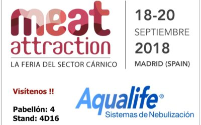 Aqualife expondrá en MEAT ATTRACTION 2018