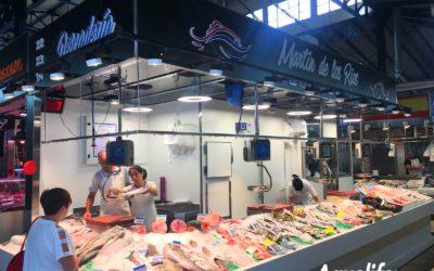 Instalação na peixaria Martín de los Ríos