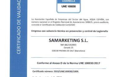 Aqualife obtiene el Certificado «CertLEGIO»